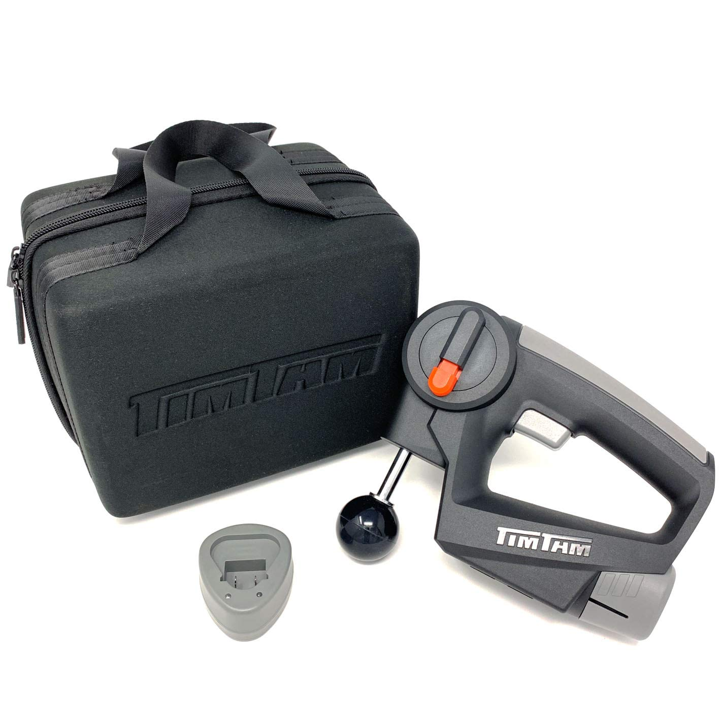 TimTam Power Massager - Handheld Deep Tissue Massage Gun for Athletes (Gray)