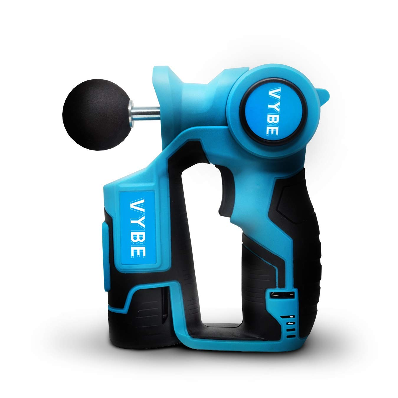 VYBE Percussion Massage Gun - V2 - 6 Speed Percussion Massager Guns w/ 3 Attachments for Deep Tissue Muscle Therapy - Electric, Handheld, Cordless, Adjustable Arm